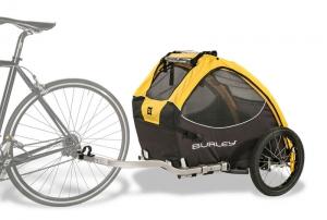 przyczepka-rowerowa-zolta-przyczepiona-do-roweru-mp-bike
